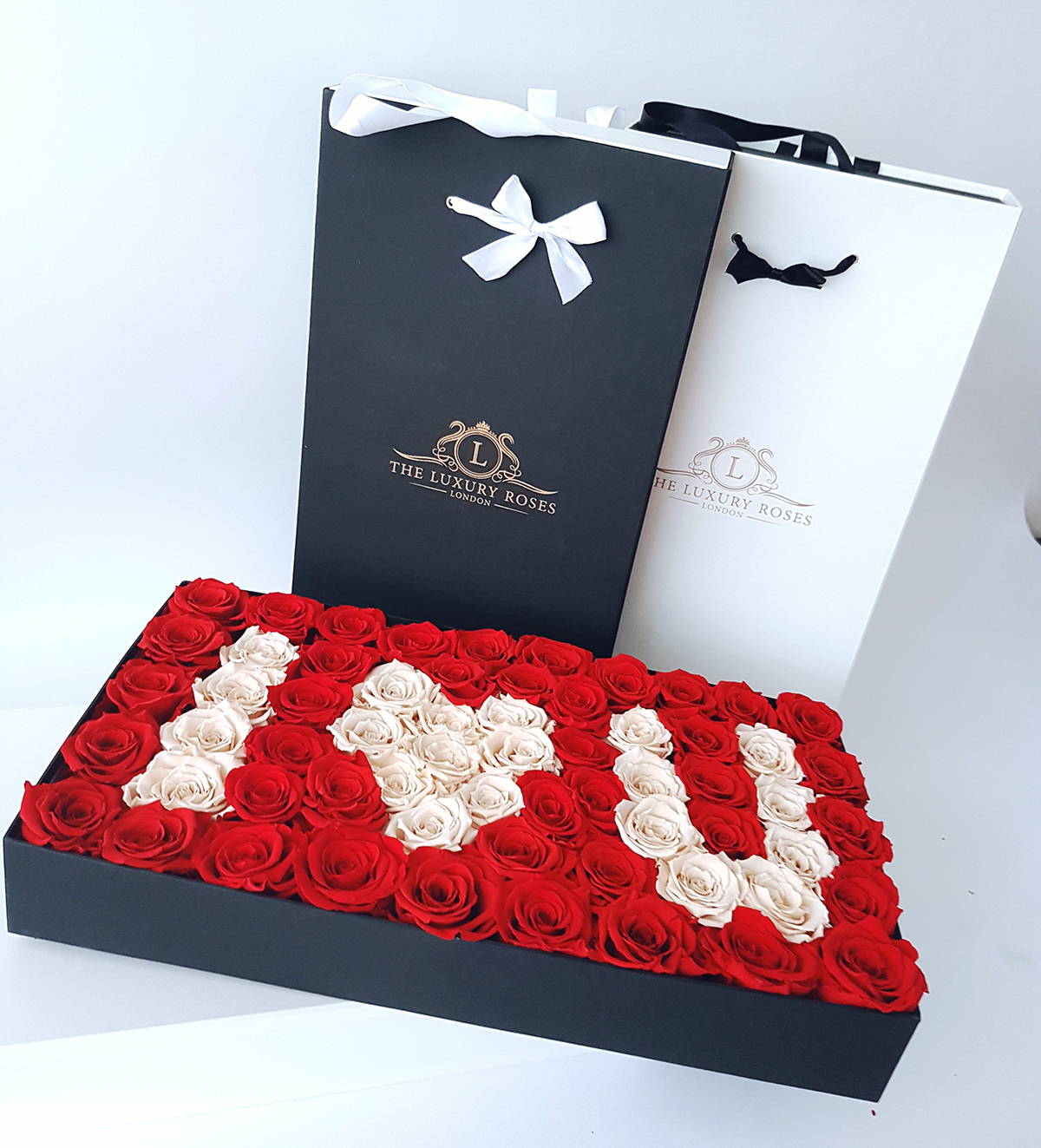 The Luxury Roses London - customized rose box design